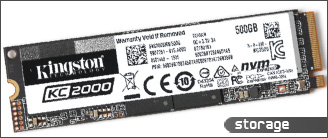 Kingston KC2000 NVMe PCIe SSD 500GB 评测